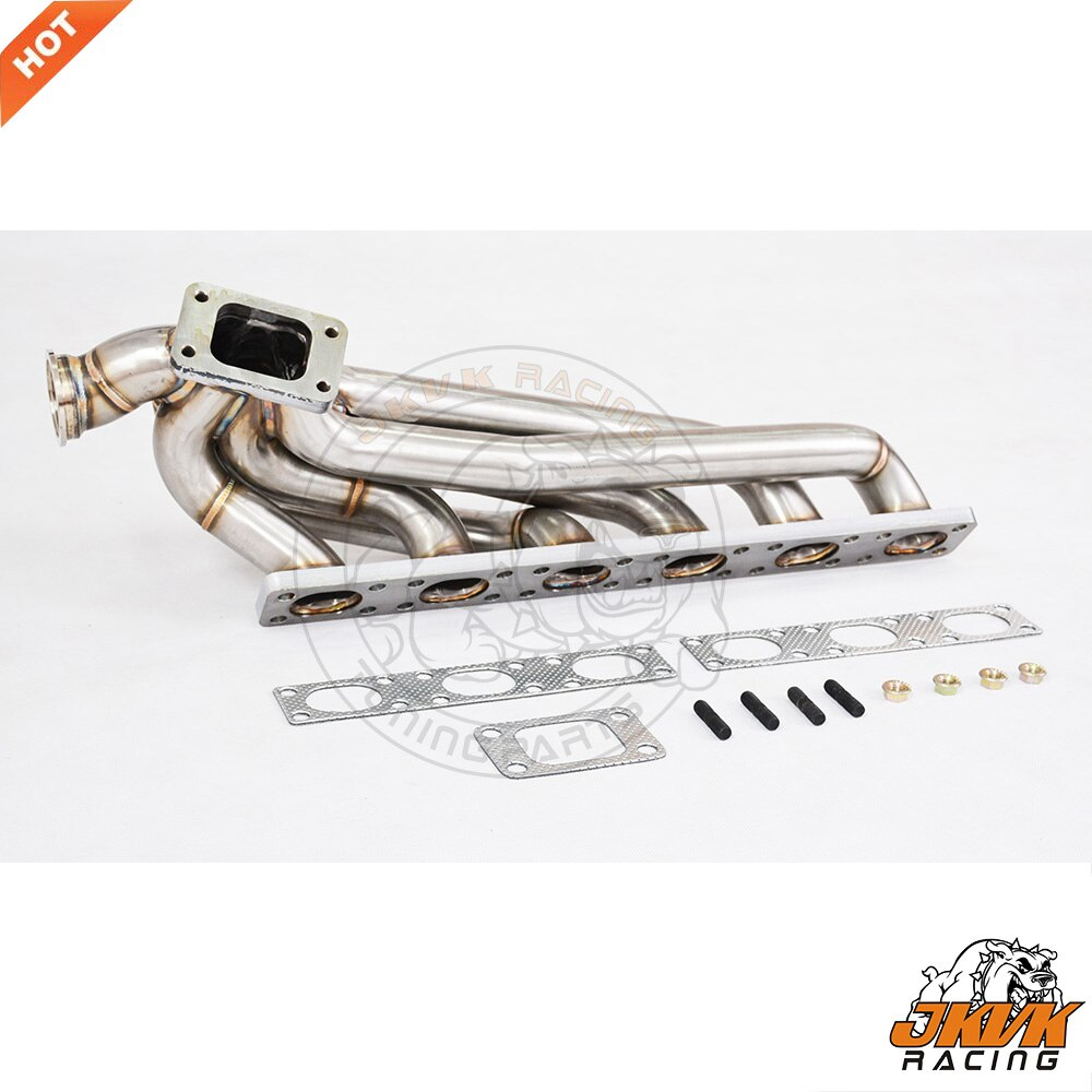 JKVK RACING, 3,0mm de espesor igual de longitud, cabezal TURBO compatible con E36 T3, colector Turbo de montaje superior M50 M52 S50 S52 1992- 1998