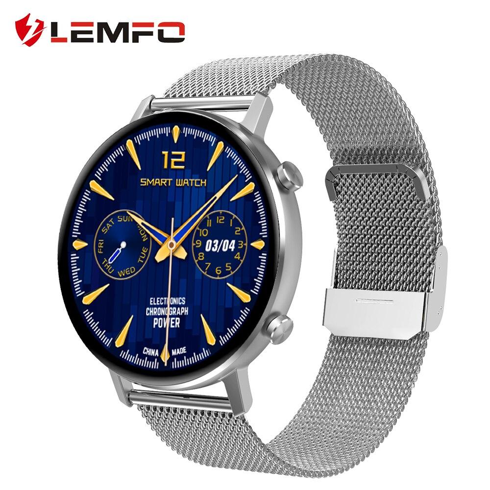 Reloj inteligente LEMFO para hombre y mujer, 14 tipos de relojes, frecuencia cardíaca, presión arterial, reloj inteligente para Android, correa de regalo