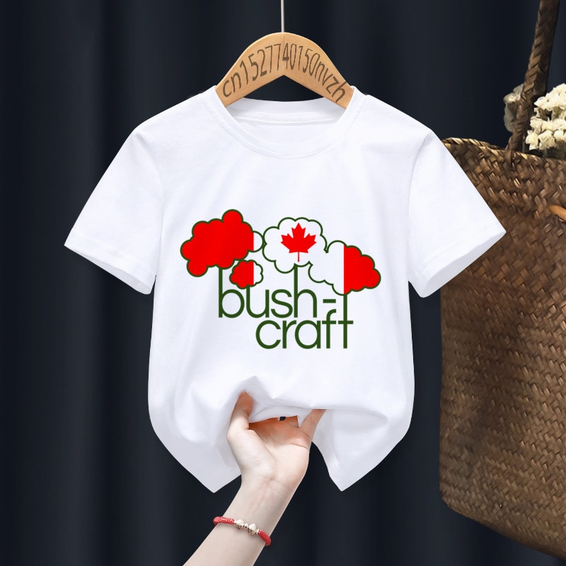 Bushcraft Funny Boy Girl T-shirts Kid Children Anime Gift Present Little Baby Harajuku Clothes,Drop