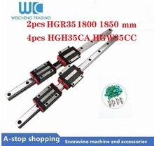 ¿HGR35 2 uds 35mm Guía de carril lineal HR35 longitud 1800 1850mm + 4 Uds HGH35CA/HGW35CC lineal guía partes de bloque CNC?