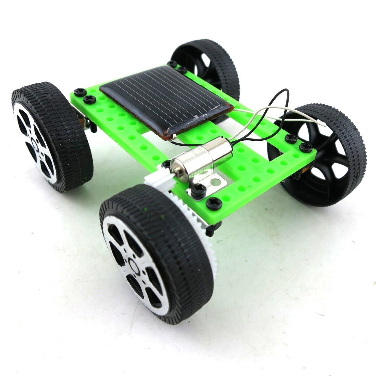 Energía Crazy Mini coche de juguete con energía Solar DIY RC Car ABS Kit de Robot con energía Solar para niños artefacto divertido educativo regalo de Hobby