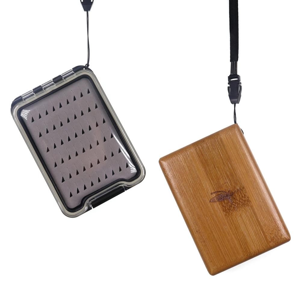 2 шт. бамбуковая деревянная коробка для ловли нахлыстом для Nymph Tenkara Dry Fly