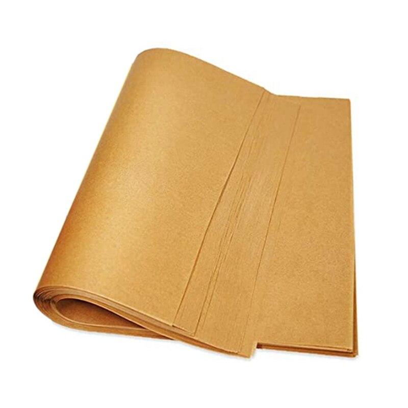 أوراق الرقائق الورقية غير المبيضة لخبز ملفات تعريف الارتباط والطبخ والمقالي الهوائية والرف ، 12 × 16 ، 200 قطعة