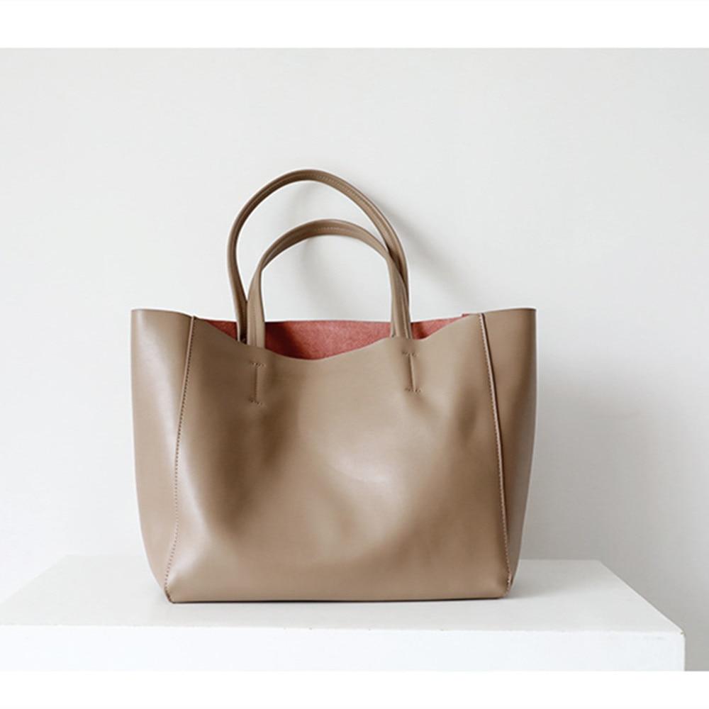 Luxury Women's Handbag 100% Cow Leather Tote Bags Designer Cowhide Big Handbags Women Fashion Female Large Capacity Shoulder Bag