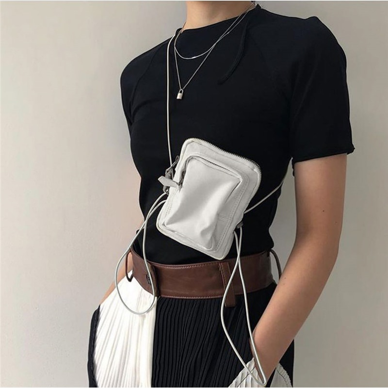 Frauen Kleine Schulter Tasche Mini Messenger Taschen Telefon Beutel Crossbody-tasche dünne Schulter Gürtel Mini Zipper Beutel für frauen 2019