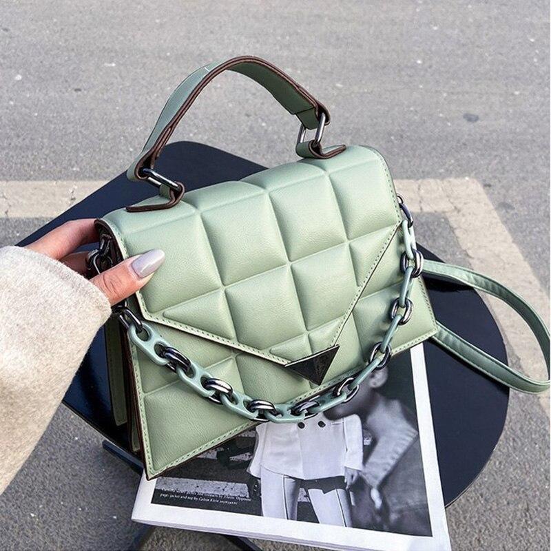 ATLI السيدات صندوق مربع صغير 2021 موضة جديدة جودة بولي Leather حقائب جلدية نسائية بلون Lingge حقائب كتف متنقلة