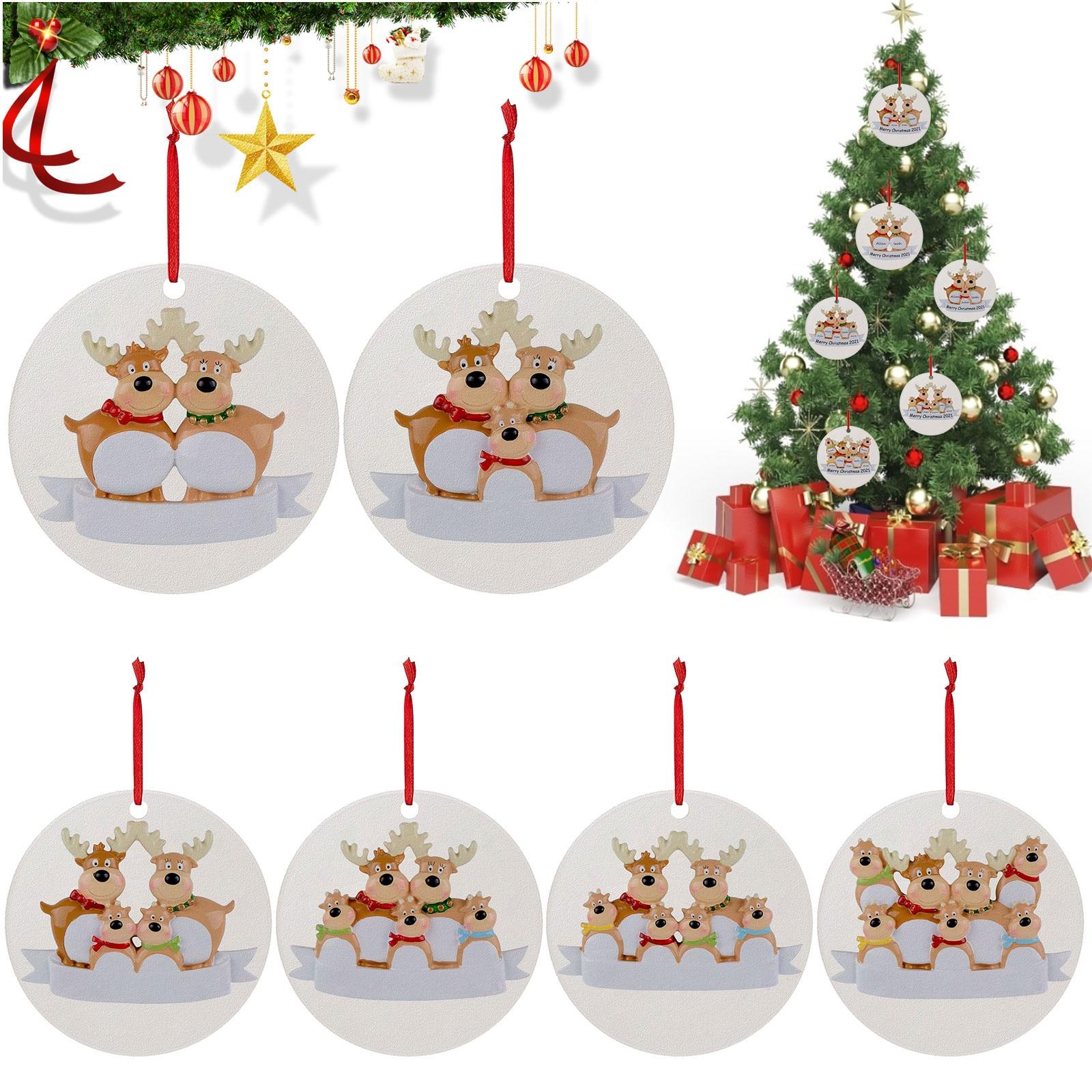 Navidad creativo lista de Navidad alce de madera adorno colgante de árbol...