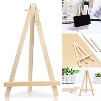 wooden easel stand desktop table card meeting small mini wedding photo tripod display name card holder display party decoration