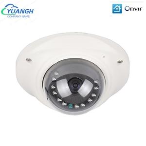 Mini Fisheye IP Camera ONVIF H.265 Vandalproof Metal Dome 1080P 180 Degree 360 Degree Panoramic CCTV Camera