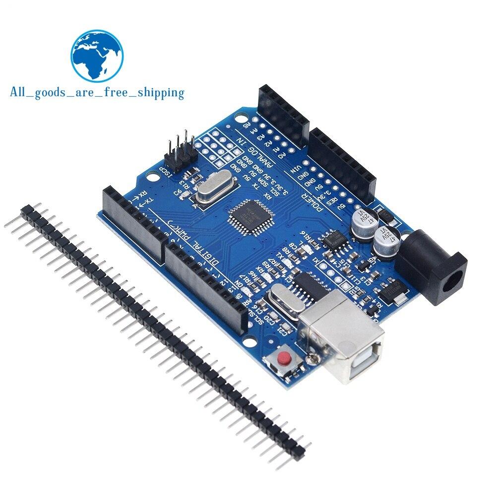 TZT высокое качество, один набор UNO R3 CH340G + MEGA328P Чип 16 МГц для Arduino UNO R3 плата для разработки + USB кабель