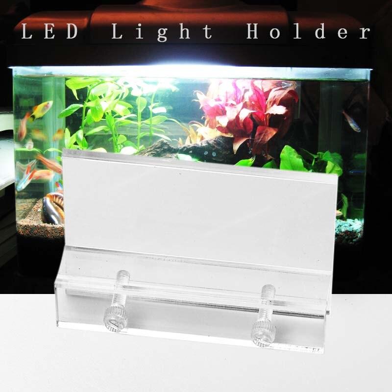 Aquarium Klar Aquarium LED Licht Halter Lampe Leuchten Unterstützung Steht Hängen Box Aquatische Fisch Tank Beleuchtung Zubehör