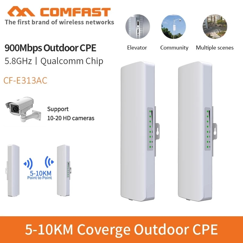 5KM 5GHz 11ac 867Mbps Outdoor CPE Wireless Router client AP WiFi Extender Access Point WiFi Bridge with POE Adapter Nanostation