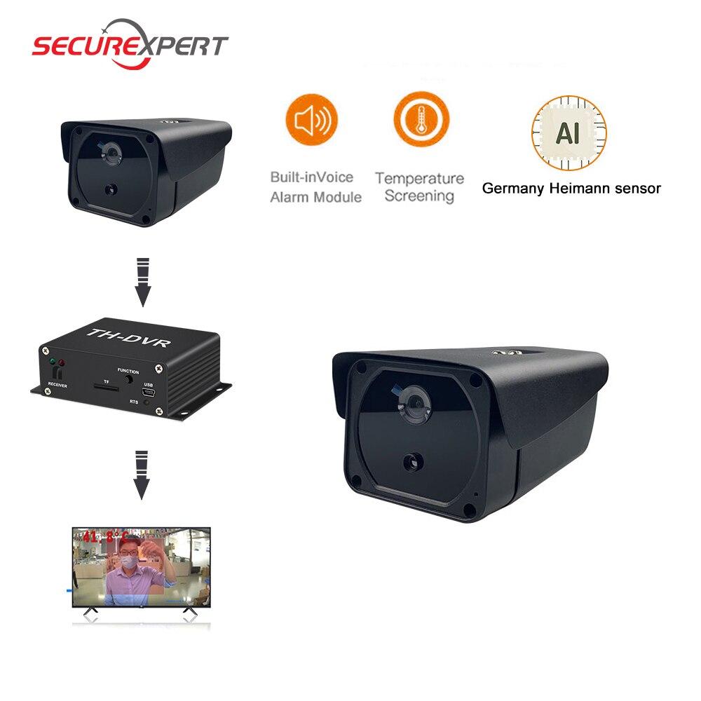1080P الوجه كاميرا التعرف على درجة الحرارة كاميرا الأمن الحراري مسجل فيديو رقمي صغير عدة حمى الكشف الحرارية صورة ip كاميرا thermique