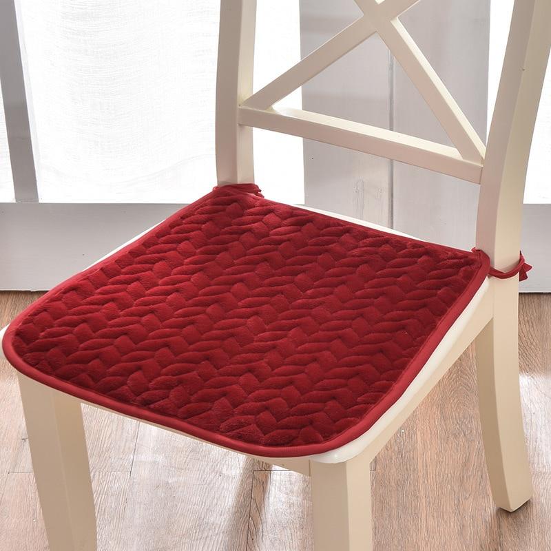 Winter Warme Sitzkissen Muster Solide Office Home Stuhl Kissen Farley Samt Auto Sitz Matte Weiche Student Stuhl Kissen 3 größen