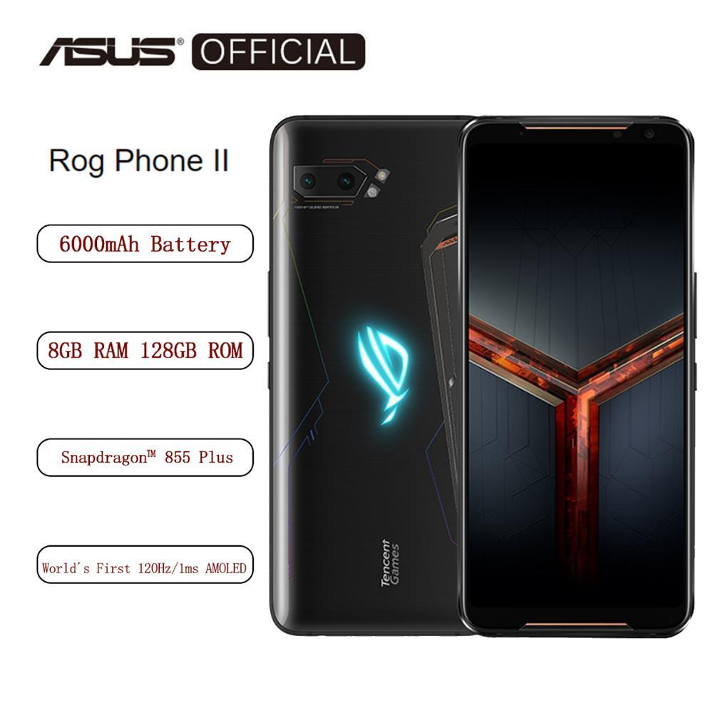 Asus ROG teléfono Ⅱ Smartphone 8GB RAM 128GB ROM Octa Core Snapdragon 855 más 6000mAh NFC Android9.0