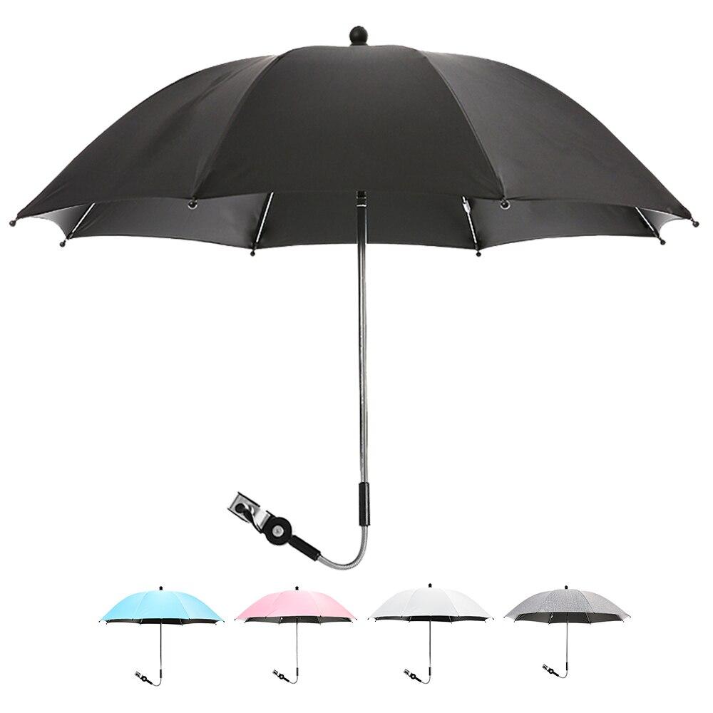 Sombrilla de cochecito de bebé giratoria multicolor, cubierta Anti-UV para el sol, sombrilla de cochecito Universal ajustable 360, protección contra la lluvia y el sol