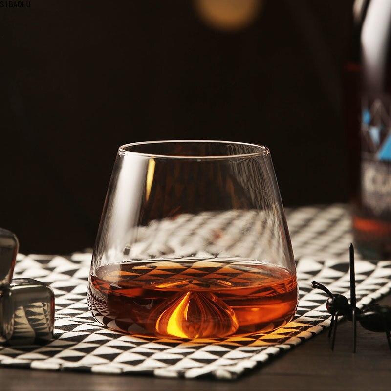 6 uds remolino Whisky cubo de hielo Rock de vidrio elegante copa de coñac de Cebada-bree XO Chivas cerveza vino rojo beber Whisky vidrio taza