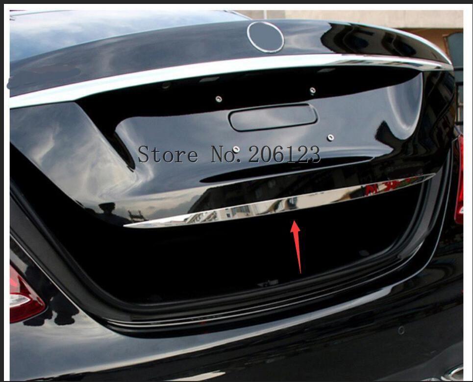 For Mercedes Benz 2016 2017 2018 E Class W213 Rear Trunk Steamer Trim Stainless Steel Door Sill Chrome Car Styling