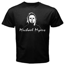2019 nova moda masculina camiseta michael myers máscara filme vintage halloween camiseta preto palhaço assustador