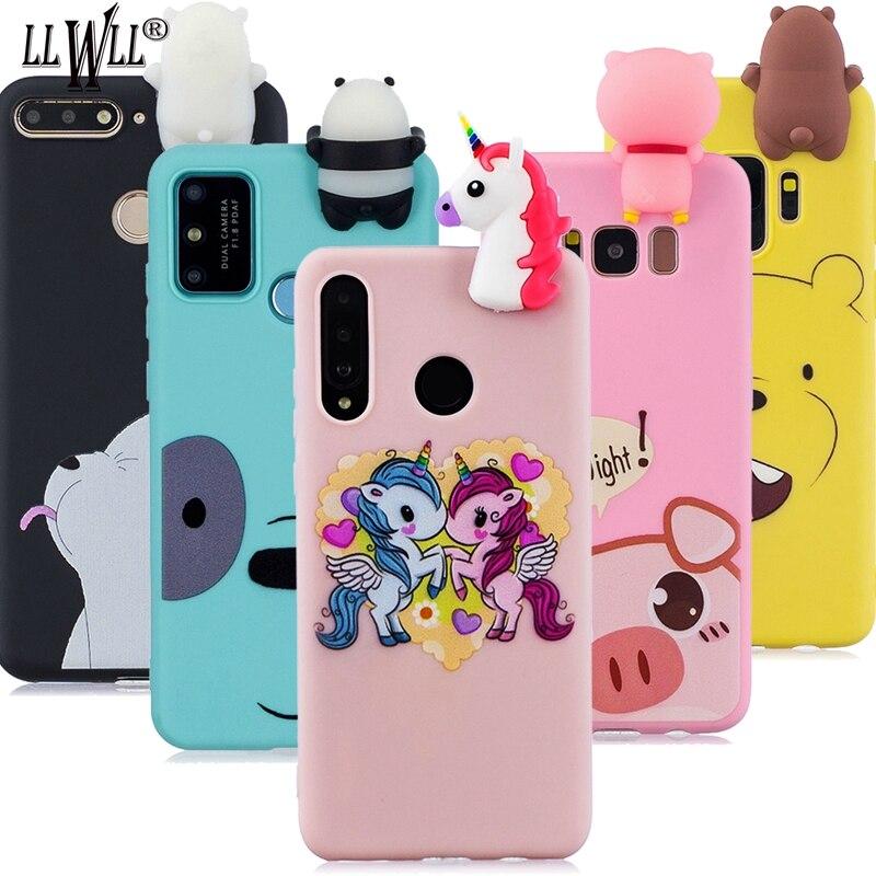3d silicone bonito dos desenhos animados caso para samsung galaxy a9 2018 SM-A920F adorável boneca rosa porco brinquedo casos de telefone para samsung a9 2018 capa