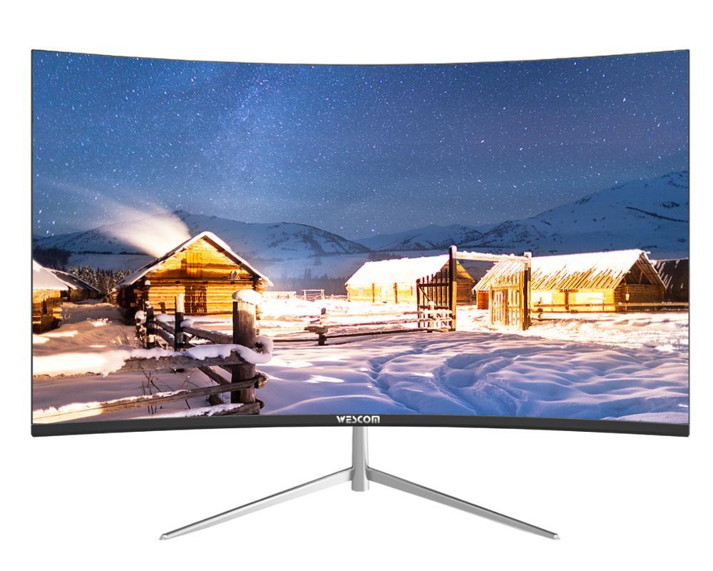 """24 дюйма 1920x1080 p LCD TFT/LCD гибочный монитор PC 75 hz hd игры/монитор Q24 """"VGA/HDMI C2463 черный Настольный экран"""