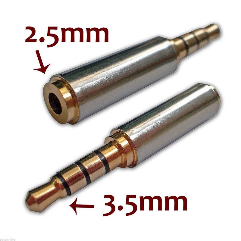 Chorro de alta calidad 3,5mm macho a hembra de 2,5mm para auriculares...