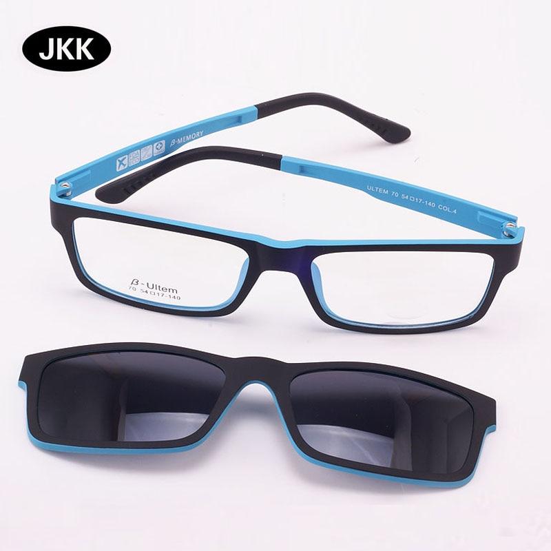Ultra-lightGlasses Magnet Clip on Sunglasses Myopia Frame Polarized eyeglasses Functional 3D Glasses