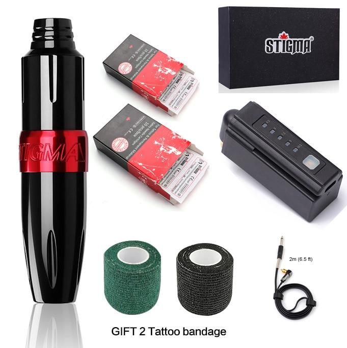 Kit completo de tatuaje para principiantes, máquina de pluma con Motor, conjunto de tintas de Color de ee.uu., agujas de fuente de alimentación