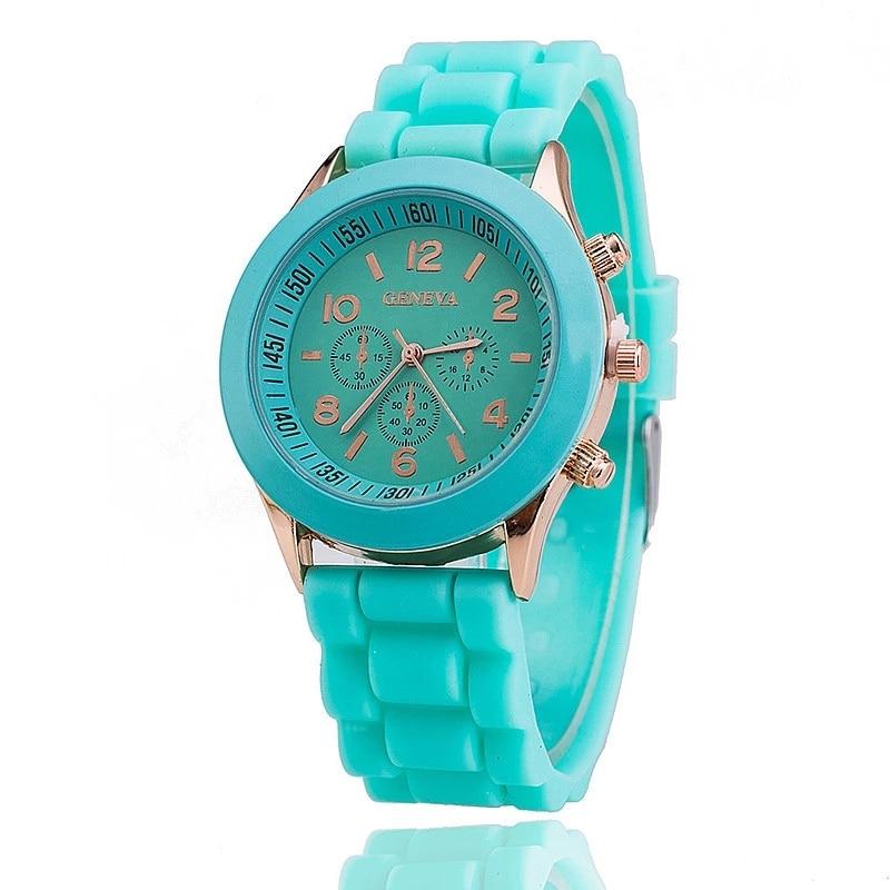Reloj Mujer 2021New Brand Geneva Women Quartz Watches Multiple Colour Soft Silicone Dress Ladies Wat