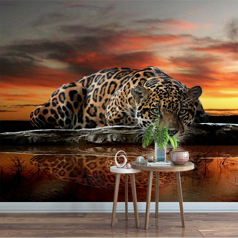 Пользовательские фото обои Тигр Леопард гостиная диван спальня ТВ обои Фотообои