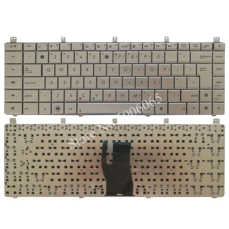 US laptop keyboard FOR ASUS N45 N45E N45S N45Vm N45-2 N45SF N45Sl N45SJ Silver English notbook