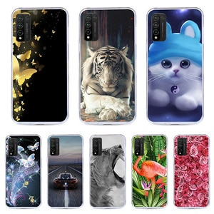 CALROVTE Case For Huawei Honor 10X Lite Silicon TPU Cover For Huawei Honor 10X Lite Cat Animal Shell Bag Housing Phone Cases