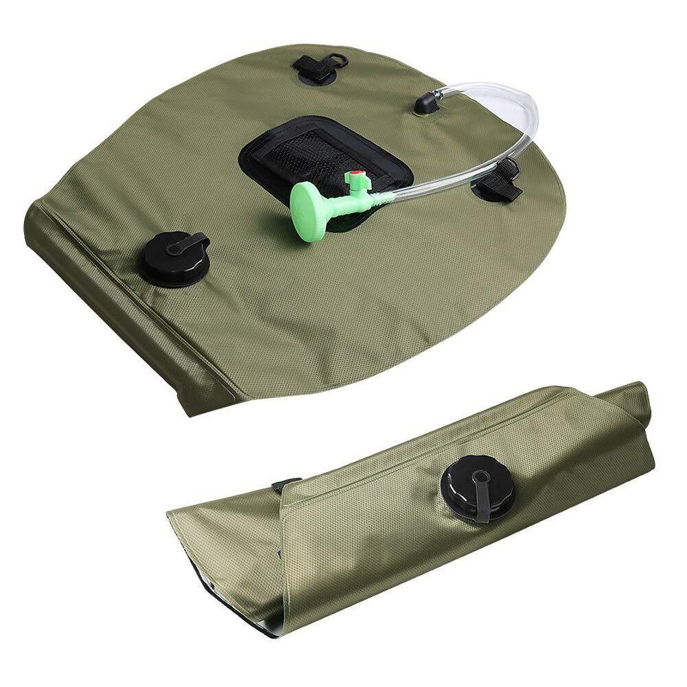 Conjunto de bolsa de água dobrável para viagem, conjunto de bolsas de água de grande capacidade em pvc para lavar carro, uso ao ar livre, caminhadas, banho, pressão, piquenique