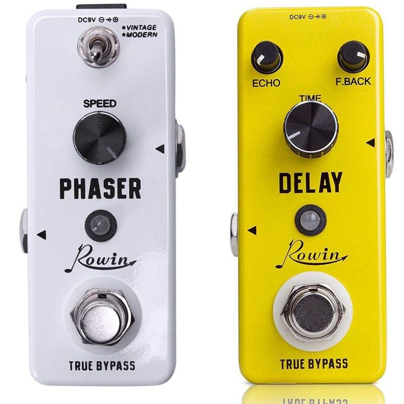 2 uds Lef - 313 efectos de guitarra Phaser clásico Mini Pedal de guitarra dos modos de funcionamiento verdadero diseño Bypass