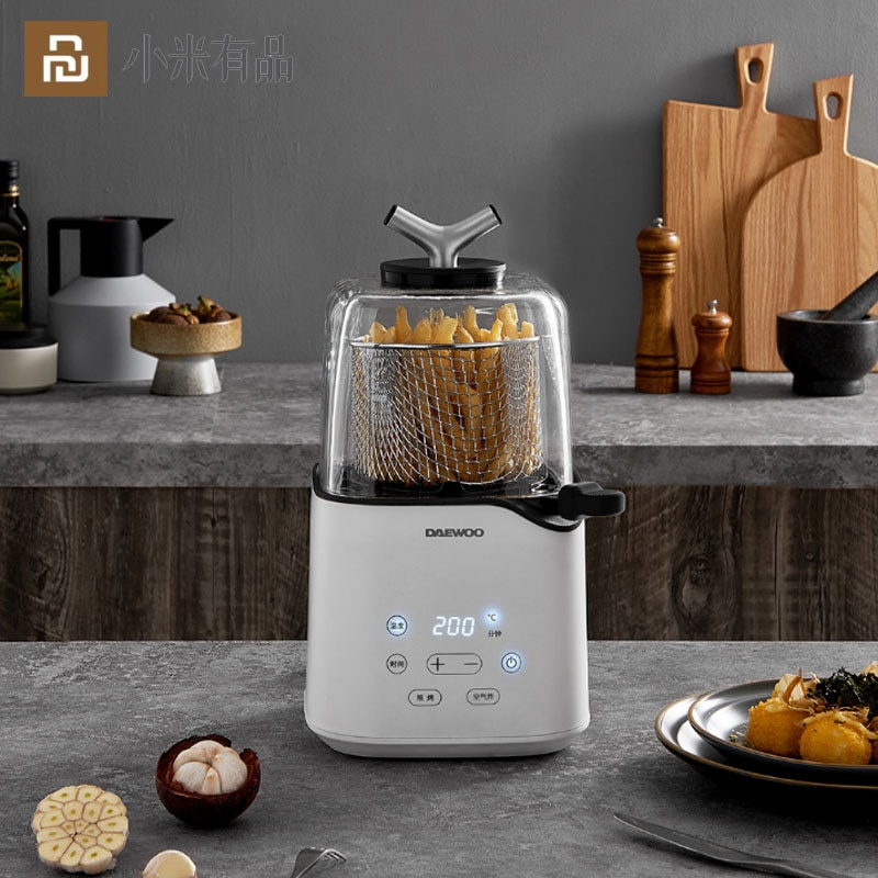 Review New Youpin Air Fryer Oil Mini Fuselage 3D Air Frying Technology Without Frying One-key Switching Frying Function for Smart Home