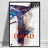 david sculpture introduction poster canvas painting posters and prints michelangelo wall art cuadros for living room decor