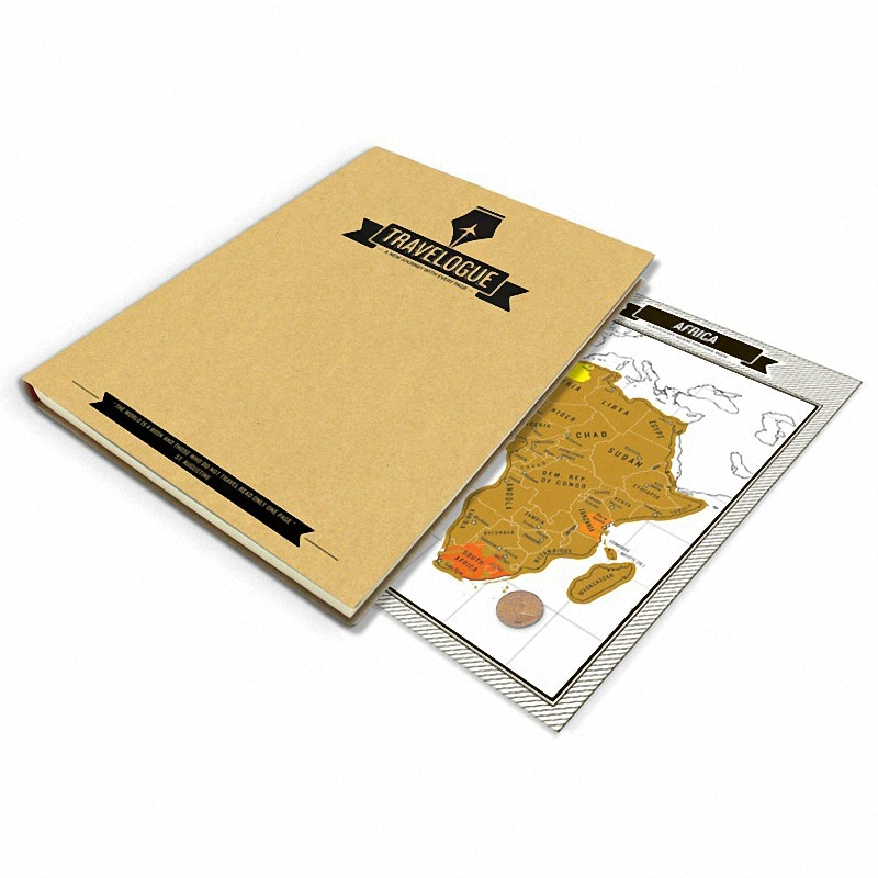 Fábrica de venda quente scratch map alta qualidade scratch fora de luxo viagens mapa viagens viagens viajante dicas livro formulário 22.5x17x2 cm