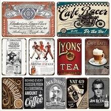 Whisky bière métal mur Art affiche signe Vintage décor rétro thé café étain signes irlandais Pub Bar cafétéria Restaurant décoration