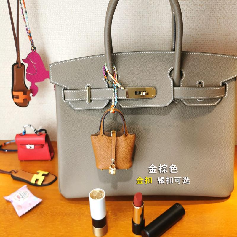 Mini Tiny Geniune Leather Handbag Decoration Pendant bag Airpod earphone Case Luxury Designer Key Charm Miniature Purse