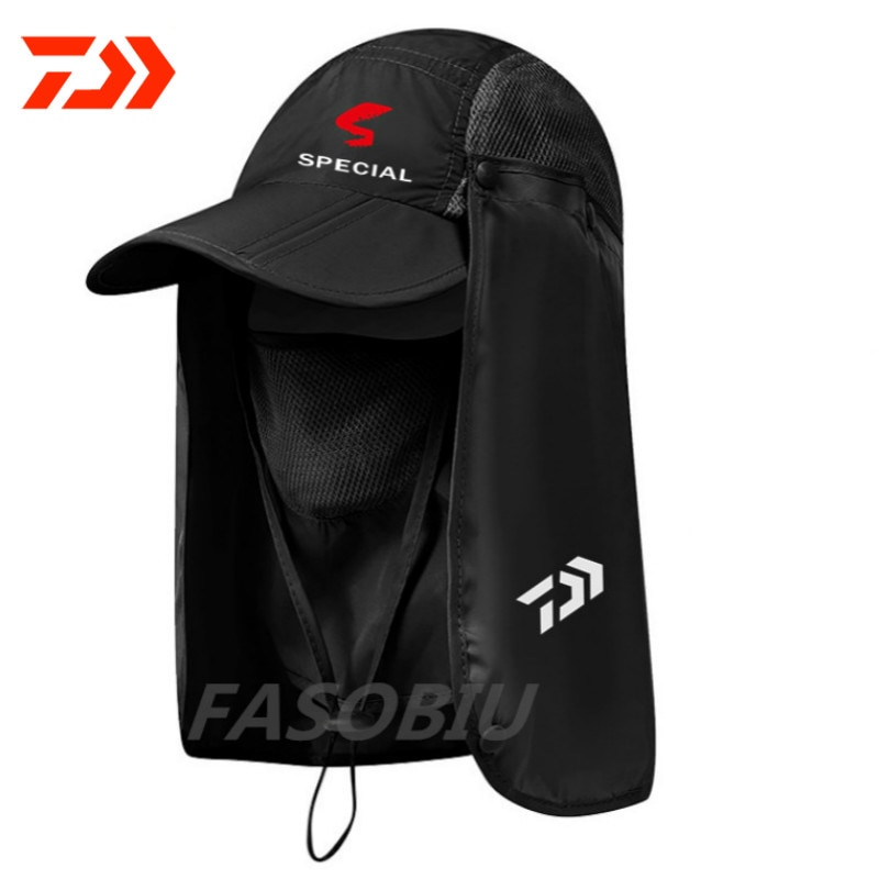 2020 Primavera Verano exterior plegable pescador impermeable de secado rápido Daiwa sombrero de pesca escalada UV gorra de pesca hombres mujeres