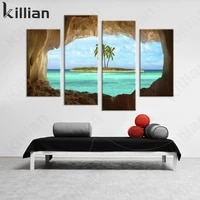 hawaiian cave see clear sky picture print poster modern landscape wall painting living room wall home decoration canvas painting