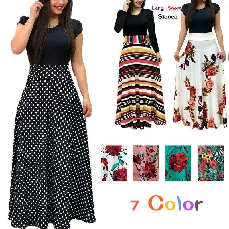 Mode décontracté Maxi robe grande taille bohème imprimer Vestidos Mujer robe Boho été femmes robe élégante robes longues Vestido 5XL