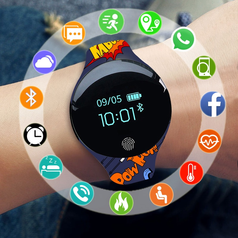Fashion sports watch smart wearable children's watch boy girl electronic LED digital watch children'