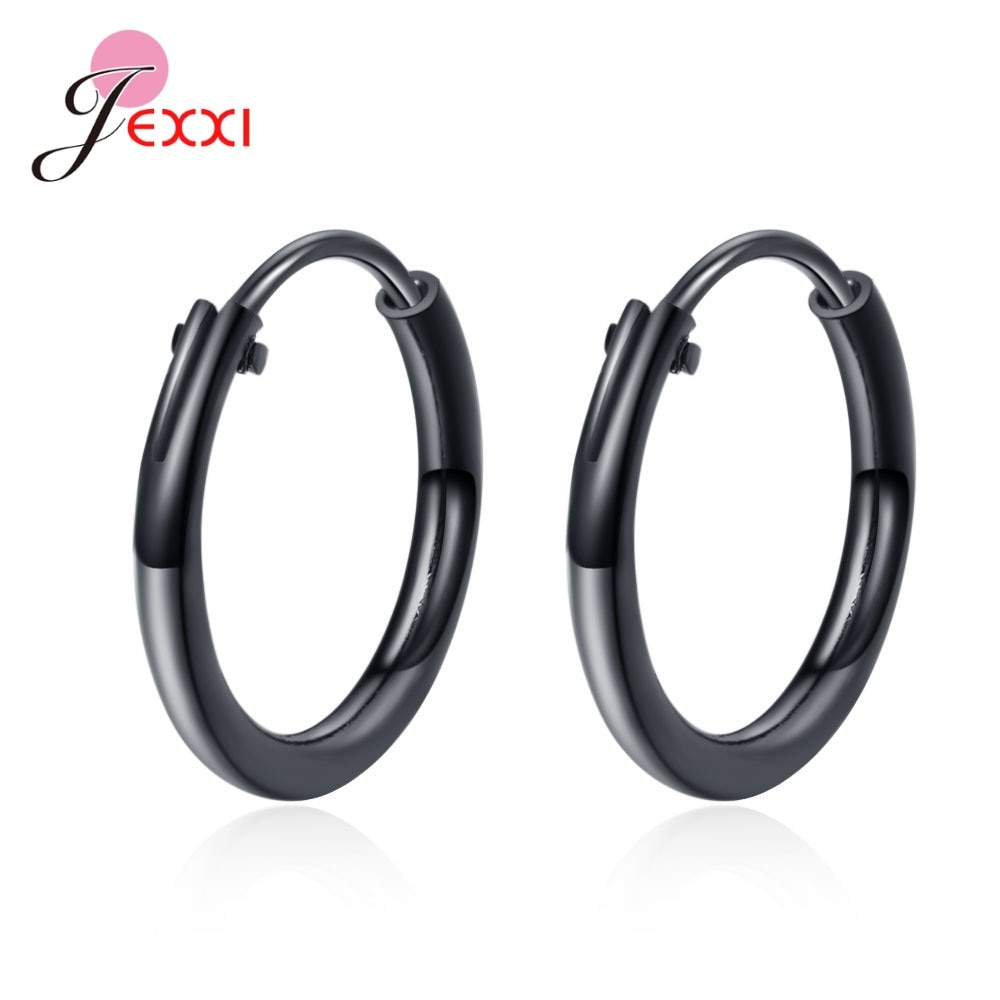 Fast Shipping 925 Sterling Silver Small Circle Hoop Earrings Women Girls Tiny Earring Hoops For Wedding Engagement Party Jewelry