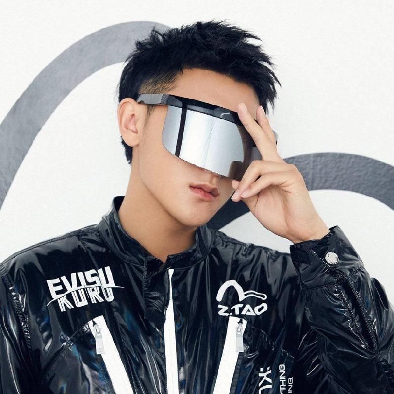 2020 Новая мода, мужские и женские солнцезащитные очки, брендовые дизайнерские очки солнцезащитные очки с большой оправой щит козырек для муж...