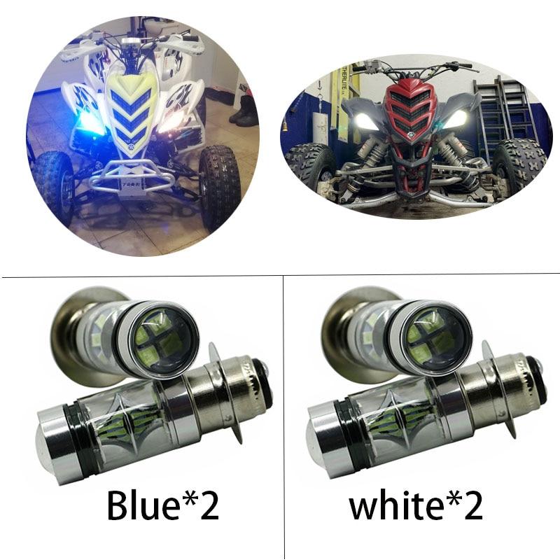2X Super blanco bombillas de faros LED bajo Luz De Carretera 100W para Yamaha GRIZZLY 660, 400, 450, 350, 125 YFZ350 YFZ450 RAPTOR 350, 700 RHINO
