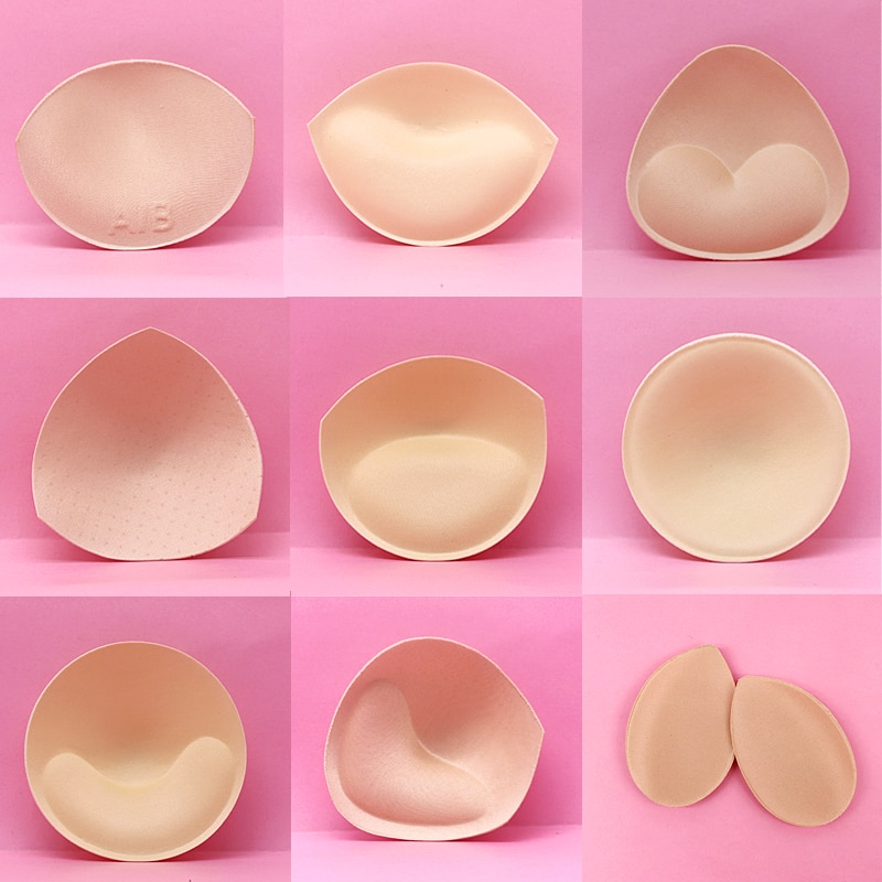 Acessórios do sutiã da espuma do triângulo almofadas de esponja do sutiã do reforço da mama do peito dos copos do peito das inserções do biquíni do sutiã
