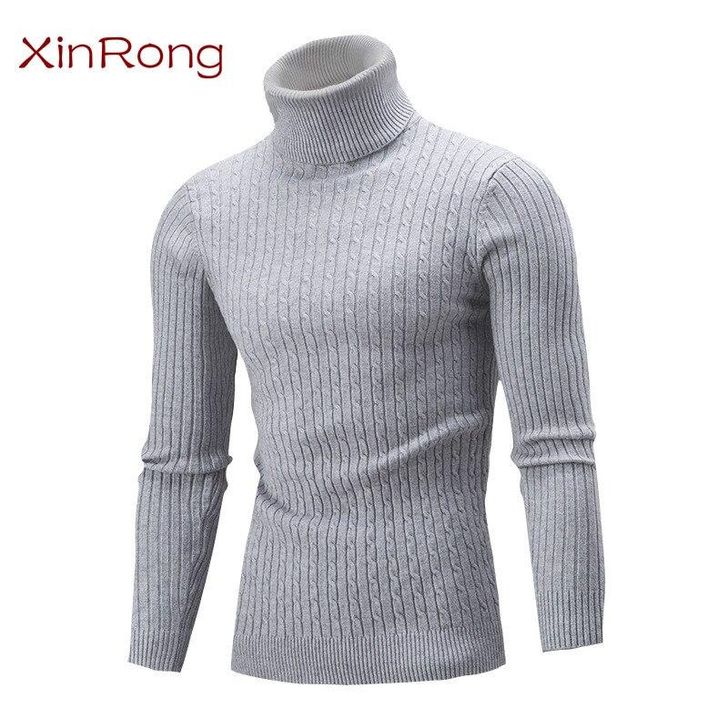 Мужской новый свитер на весну и осень, Европейская и американская рубашка с отворотом, приталенная Однотонная рубашка, модный мужской свите...