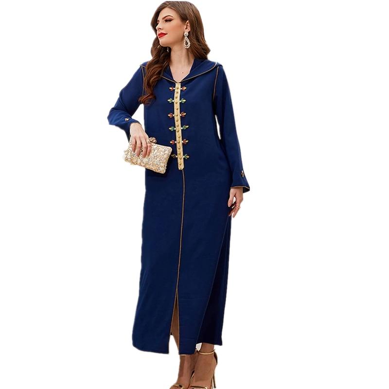 BUSHRA 2021 African Dress For Women New Style Classic Dashiki Fashion Loose Long Maxi Dress Africa Clothes Muslim Fashion Abaya