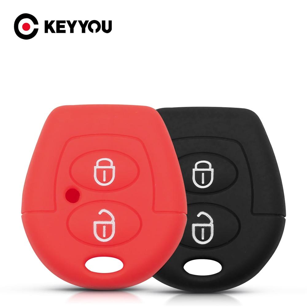 KEYYOU-funda de silicona para mando a distancia de coche, 2 botones, protección...